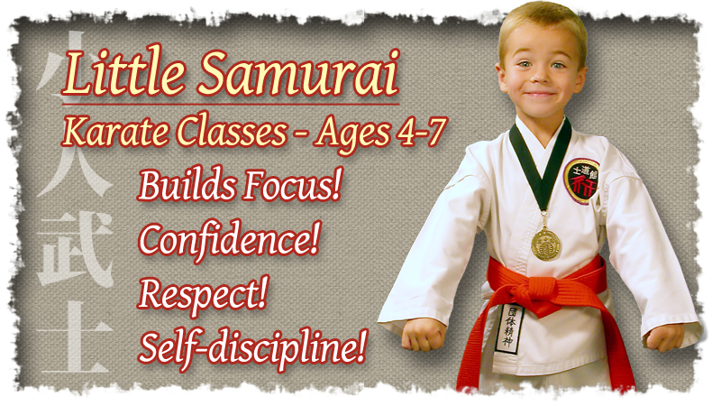 Little Samurai Karate Classes - Ages 4-7