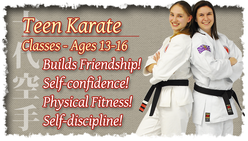 Teen Karate Classes – Ages 13-16