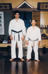 Kyoshi Keane with Shoshin Nagamine founder of Matsubayashi-ryu