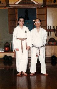 Shidoshi Keane with Shoshin Nagamine founder of Matsubayashi-ryu